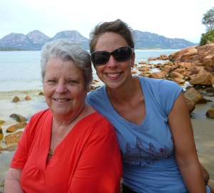 Mum and I at Muirs Beach