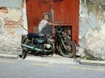 Mural: Boy on Motorbike