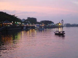 Kuching River as the sun sets