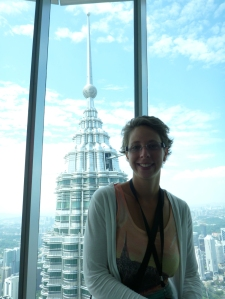 On the observation desk of Petronas Tower no.2